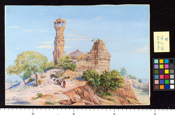 272. Jain Tower and Temple at Chittore, India.. © RBG KEW