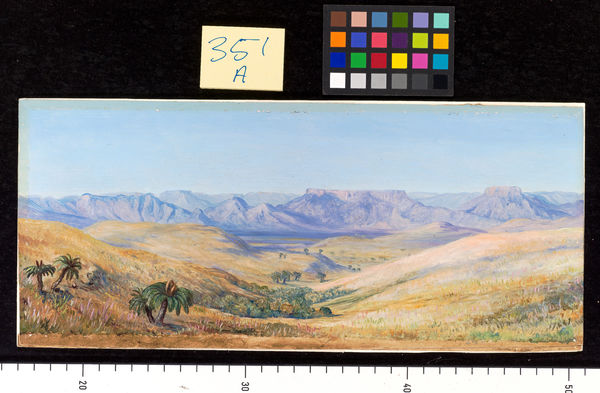 351. View of the Mountains from the railway between Durban and M. © RBG KEW