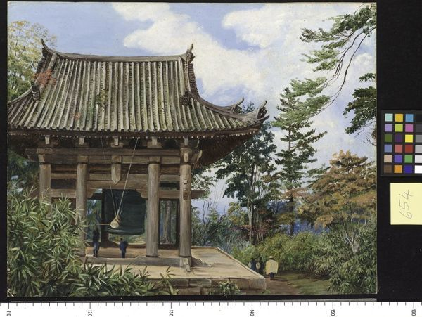 654. Temple over the Great Bell of Chion-in, Kioto, Japan.. © RBG KEW
