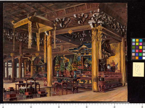 655. Interior of Chion-in Temple, Kioto, Japan.. © RBG KEW