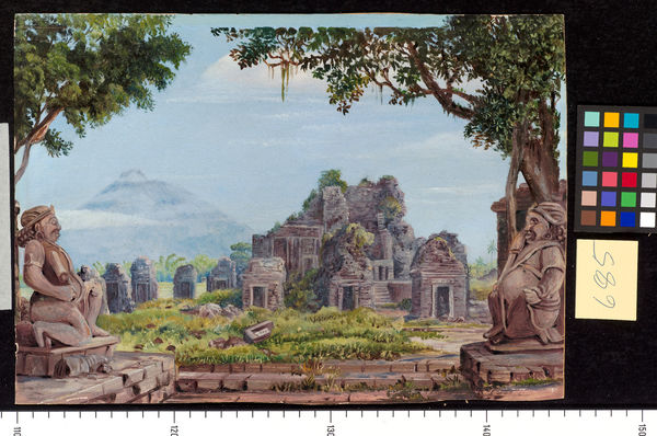 685. Idols and Temples at Brambanang, Java.. © RBG KEW
