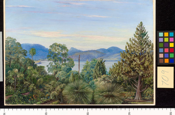 709. View from the Botanic Gardens, Hobart Town, Tasmania.. © RBG KEW