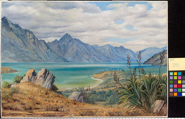 713. View of Lake Wakatipe, New Zealand. © RBG KEW