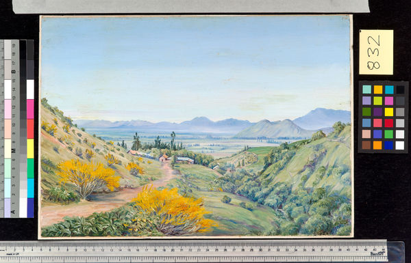 832. Distant View of Santiago, Chili, from Apoquindo.. © RBG KEW