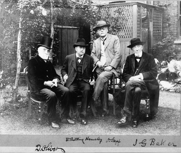 The first four Keepers of the Herbarium, Kew Gardens. © RBG KEW