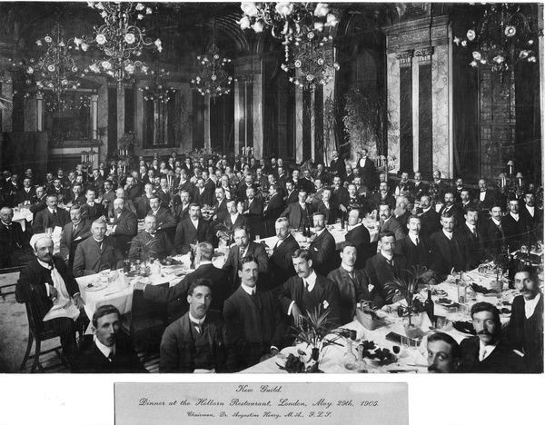 Kew Guild dinner at the Holborn Restaurant, London, 1905. © RBG KEW