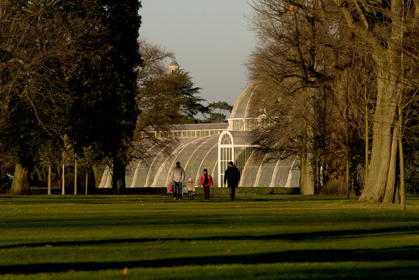 Palm House vista with public. © RBG KEW