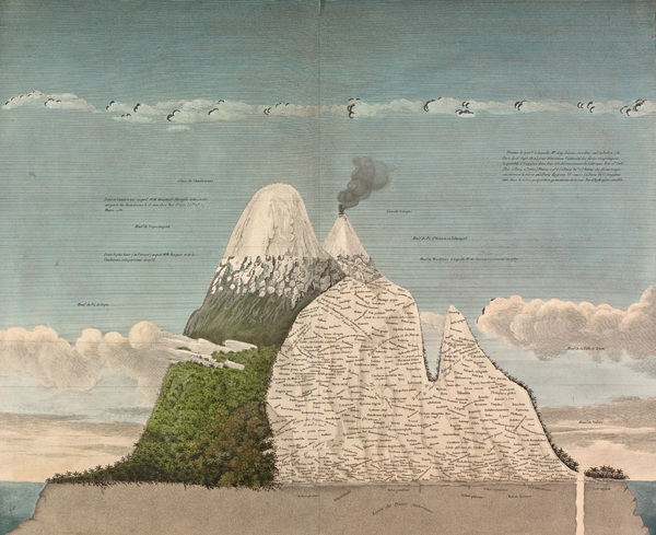 Tableau physique des Andes et pays voisins - Physical Tableau of the Andes and Neighboring Countries. © RBG KEW