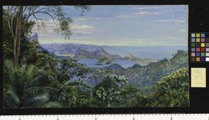 138. View of the Bay of Rio and the Sugar-loaf Mountain, Brazil.
