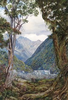 731. Entrance to the Otira Gorge, New Zealand.