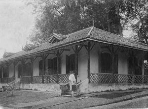 House of Walter Haydon, curator of the botanic station at Kotu in Gambia
