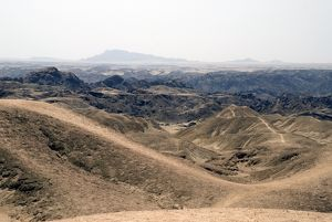 Moonscape east of Swakopmund
