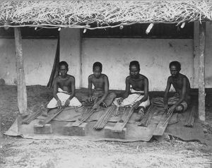 Preparing cinnamon, Sri Lanka, 1880's