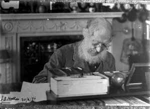 Sir Joseph Hooker at his writing desk