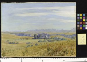 444. View of Cadle's Hotel and the Kloof beyond, near Grahamstow