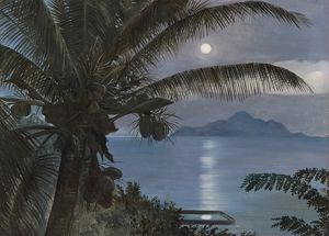 481. Moon reflected in a turtle pool, Seychelles.