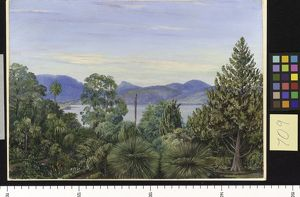 709. View from the Botanic Gardens, Hobart Town, Tasmania