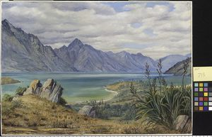 713. View of Lake Wakatipe, New Zealand