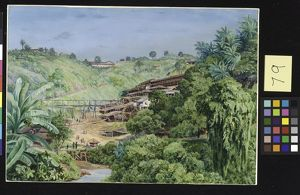 79. View of the Old Gold Works at Morro Velho, Brazil.