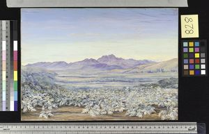 828. View of the Bell Mountain of Quillota, Chili, with colonise