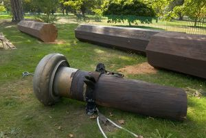 the remains of the flagpole at Kew