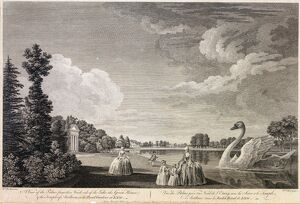 'A View of the Palace from the North Side of the Lake...'